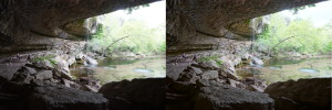 Hamilton Pool, under the half-dome (click on photo to zoom)