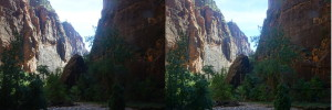 Regular vs. HDR photo in Zion National Park (click to zoom photo)